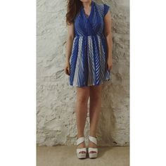 Zoora Hairstyle : Vintage Blue & White Dress This gem was purchased at one of Nashville ...