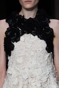 See the most gorgeous detail shots and closeups from Fashion Week - including this one from Giambattista Valli