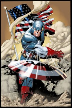 Captain America by Clayton Henry. Color by Hugo Froes.
