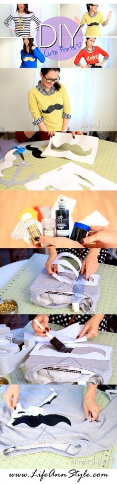 DIY :: How to customize your own prints.. mustache, anchor, xoxo...   | www.LifeAnnStyle.com