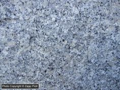 Strzegom granite (Magma, deep-water rock) - It comes from quarry in Strzegom (Poland). Its colour is grey, sometimes slighty blue. Age of granite of Strzegom-Sobotka massif is assessed as on late Carboniferous and early Permian.; Photo Copyright © Piotr Zając
