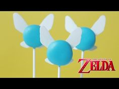 ZELDA NAVI NILLA POPS - NERDY NUMMIES - look how simple this is! why am I not making these right now?!?