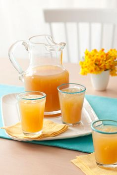 Easter recipes: How to make Peach Iced Tea Refreshing Drinks, Summer Drinks, Fun Drinks, Diet Tips, Diet Recipes, Egg Recipes, Brunch Recipes, Dessert Recipes, Desserts