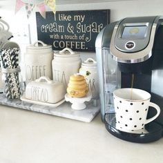 Here are 30 brilliant coffee station ideas for creating a little coffee corner that will help you decorate your home. Find and save ideas about Home coffee stations in this article. See more ideas about Coffee corner kitchen, Home coffee bars and Kitchen Coffee Bar Station, Tea Station, Home Coffee Stations, Keurig Station, Beverage Stations, Beverage Center, Coffee Area, Coffee Nook, Coffee Bar Home