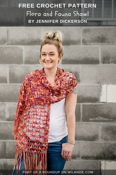 Looking for summer crochet shawls ideas? This beautiful shawl made by Jennifer Dickerson is part of a roundup on wilmade.com. #crochet #shawl #scarf #wrap #summer #spring #crochet #pattern