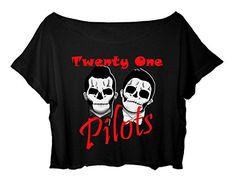 Women's Crop Top Twenty One Pilots Shirt 21 Pilots Duo Musical T-shirt (black) http://www.amazon.com/dp/B0165B5YXA/ref=cm_sw_r_pi_dp_a0lgwb1YFYY5S