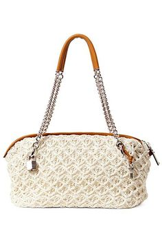 Crocheted bag by Ermanno Scervino