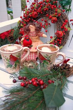 Ideas For Farmhouse Cottage Christmas Decor Crafts Cottage Christmas, Christmas Kitchen, Christmas Mood, Noel Christmas, Green Christmas, Christmas Morning, Country Christmas, All Things Christmas, Christmas Crafts