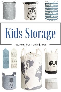 Check out these cute storage bins and baskets! <3 Great for toy storage. kids room storage, baby room storage, nursery storage, toy storage, neutral toy storage, boys room storage, cute storage. #affiliate#