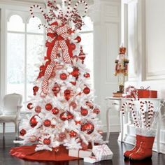 I think I'm going to switch to a white tree this year. With red or blue ornaments! #Christmas #Christmasdecor