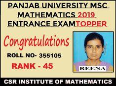 Math Coach, Chandigarh, Maths, Mathematics, Entrance, Coaching, Congratulations, University, Join