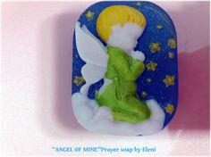 3d Angel's prayer glycerine soap Η Προσευχη by ElenisLittleShop