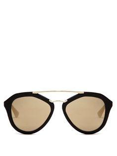 Aviator acetate sunglasses    Prada Eyewear   MATCHESFASHION.COM UK