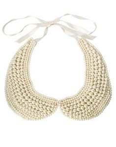 ASOS Pearl Peter Pan Collar. My mom use to wear this.