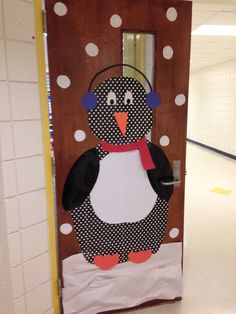 Kindergarten Winter door decor