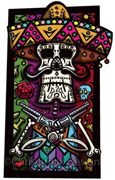 Chris Brock Design Day of the dead gunslinger