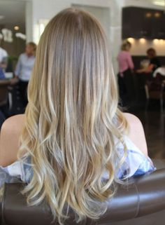 Box No. 216: blonde ombre hair color