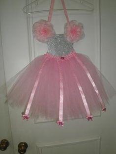 Pretty Pink & Silver Tutu Hair Bow Organizer Display Wall hanger $25.00