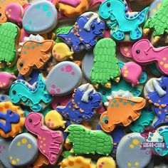 Sugar Coma Cookies:  Birthday celebration.  Dinosaurs.  Dinosaur eggs.  Dinosaur footprints.