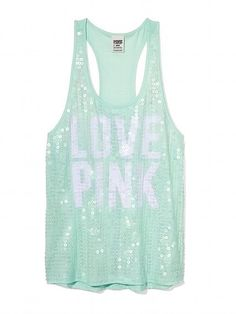 Love Pink sequined tank top from Pink VS.