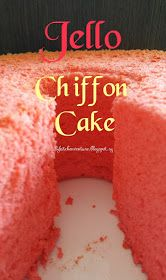 If you love Jell-O, you& be equally intrigued as me how this can be used to make a chiffon cake! Yes, a Jello Chiffon Cake! Jello Pudding Desserts, Jello Cake, Jello Recipes, Dessert Recipes, Cake Icing, Eat Cake, Cupcake Cakes, Bundt Cakes, Cupcakes