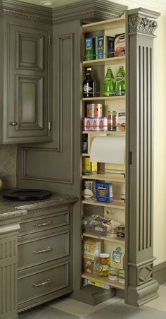 """What a GREAT idea! Pull out Pantry Inland Empire Group """"Ready to Move When You Are"""" Sellers Hotline- 909-772-8561 Buyers Hotline-909-294-6637 www.inlandempiregroup.com"""