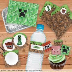 Festa Pronta com tema Minecraft!