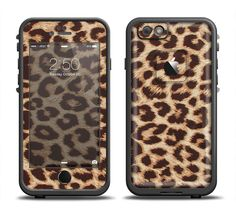 The Simple Vector Cheetah Print Apple iPhone 6/6s Plus LifeProof Fre Case Skin Set from DesignSkinz