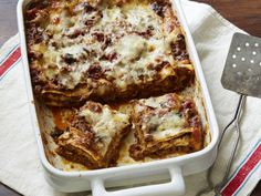 Healthy Meal Makeovers: Meat and Mushroom Lasagna Recipe : Bobby Deen : Food Network - FoodNetwork.com