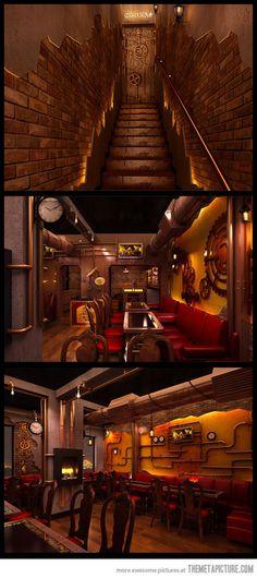 Steampunk restaurant in New Deli…@Rich Fabbralado