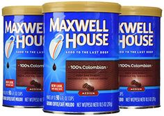 Maxwell House 100 Colombian Ground Coffee 105Ounce Cannister Pack of 3 * Visit the image link more details.-It is an affiliate link to Amazon. #CoffeeBeans