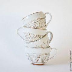 """Ceramic cups / Кружки и чашки ручной работы. Ярмарка Мастеров - ручная работа. Купить Большая чашка """"Зефир"""". Handmade. Белый, чашка для чая"""