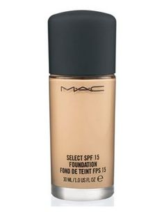 MAC Foundation. I absolutely love this stuff. It's so hard to find a foundation that gives good coverage, and doesn't dry out your skin. I love it.