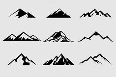 Mountain Shapes For Logos Vol 1 by lovepower on @creativemarket