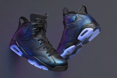 Three Air Jordan Sneakers go Iridescent for NBA All-Star Game 2017
