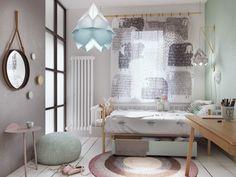 Home Designing — (via Concrete Finish Studio Apartments: Ideas &...