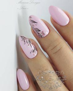 Frensh Nails, Cute Nails, Pretty Nails, Acrylic Nails, Pink Nail Art, Pink Nails, Nagellack Design, Best Nail Art Designs, Manicure E Pedicure