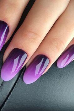18 Trendy Ombre Nail Designs Purple Glitter Nails, Purple Nail Art, Purple Nail Designs, Pink Nails, Nail Art Designs, Nails Design, Grunge Nails, Swag Nails, Stylish Nails