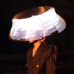 A beautiful LED hat.