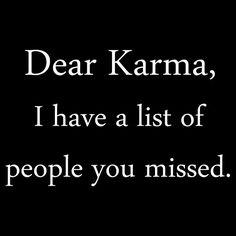 Karma.   2nd