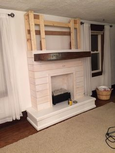 4 Resolute Cool Tricks: Tv Over Fireplace Artworks fireplace hearth bedrooms.Fireplace Wall Furniture fireplace design how to build.Fireplace Living Room With Tv. Fireplace Tile Surround, Fake Fireplace, Shiplap Fireplace, Farmhouse Fireplace, Fireplace Remodel, Fireplace Design, Fireplace Ideas, Fireplace Makeovers, Fireplace Stone