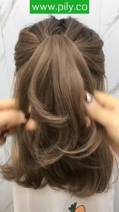 Hairstyles Videos, Easy Hairstyles For Long Hair, Hair Videos, Cute Hairstyles, Braids For Short Hair, Hair In A Bun, Simple Hairstyles For School, Easy Wedding Hairstyles, How To Style Short Hair