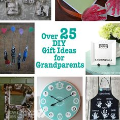 Over 25 DIY Gift Ideas for Grandparents #howdoesshe #giftgiving howdoesshe.com