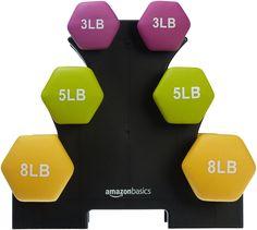 AmazonBasics Neoprene Dumbbells 32-pound set
