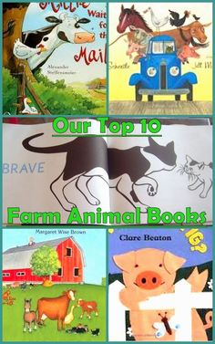 Our Top 10 Farm Animal Books. Farm Animals Preschool Activities.