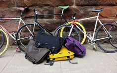 Trakke is a Glasgow based team that make handmade cycling orientate bags. These guys share their space with the Glasgow Bike Station we profil