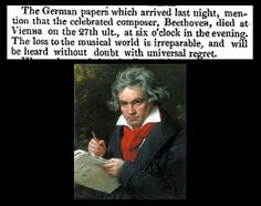 27th March 1827 - Death of Ludwig Van Beethoven
