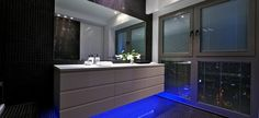 Amazing Apartment Interior Inspirations from Tel Aviv: Fantastic Sky Penthouse Tel Aviv Design Interior In Bathroom Space Decorated With Mod. Floating Bathroom Vanities, Bathroom Vanity Makeover, Apartment Interior, Bathroom Interior, Bathroom Ideas, Bathroom Designs, Penthouse For Sale, Dream Bathrooms, Modern Bathrooms