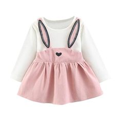 43b90f9ef9f Rabbit Ear Dress Long Sleeve Infant Girl – Jaxandlivi