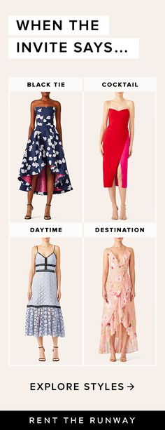 Why buy when you can borrow? Our closet is filled with endless dress options for all your summer wedding events. Wear once and return. Easy, right? Sign up today for 20% off your first order.